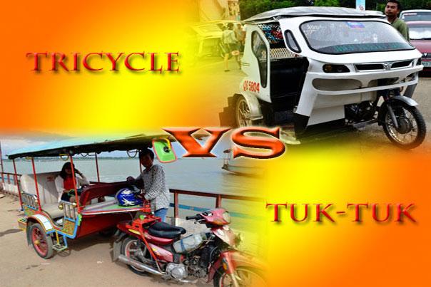 Cambodian Tuk-tuk vs Filipino Tricycle