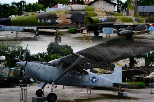U. S. Jet fighters that were left behind during the Vietnam War